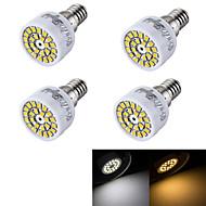 3W E14 LED-spotlys R50 24 SMD 2835 240 lm Varm hvid Kold hvid Dekorativ Vekselstrøm 220-240 V 4 stk.