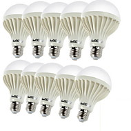 Youoklight® 10pcs e27 3w 12 * smd5630 150-200lm 3000k ζεστό λευκό φως οδήγησε λαμπτήρες σφαίρας (ac220v)