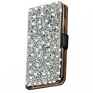 Mert Samsung Galaxy tok Strassz / Flip Case Teljes védelem Case Csillámpor Műbőr Samsung J5