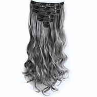 Κουμπωτό συνθετικός Προσθετική μαλλιών 130 Hair Extension
