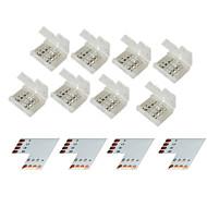 10mm 5050 rgb led şerit ışıklar z®zdm 4 grup 4-pim kaynaksız konektör