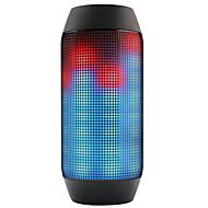 Bluetooth Vezeték nélküli Bluetooth hangszóró Szabadtéri Hordozható Bult mikrofonnal Támogatott külső memóriakártya Super Bass LED fény