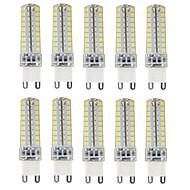 10db g9 72smd 2835 4,5w 350-450lm meleg / hideg / természetes fehér dimmable ac110v / 220v led corn light