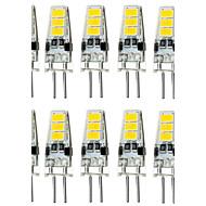 10pcs 1.5w g4 6smd 5733 dc12v 150-200lm quente branco / branco decorativo / impermeabilizado bi-pin luzes