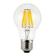 8W E26/E27 Lâmpada Redonda LED A60(A19) 8 COB 780 lm Branco Quente Regulável / Impermeável V 1 pç