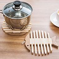 Yuvarlak Yamalı Altlıklar , Bambu Malzeme Otel Yemek Masası / Tablo Dceoration 1