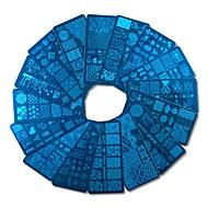 1pcs nieuwe ontwerpen diy polish stempelen nagel stempel templates nail art platen gereedschap spijkers xyj17-32