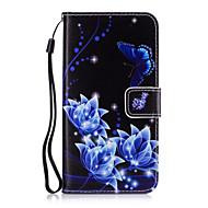 For Pung / Kortholder / Med stativ Etui Heldækkende Etui Blomst Hårdt Kunstlæder for Samsung Grand Prime / Core Prime / Core 2