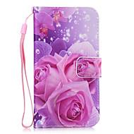 Για Θήκες Καλύμματα Πορτοφόλι Θήκη καρτών με βάση στήριξης Πίσω Κάλυμμα tok Λουλούδι Σκληρή Συνθετικό δέρμα για SamsungS8 S8 Plus S7 edge