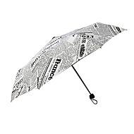 Fekete / Fehér Összecsukható esernyő Napernyő Plastic Babakocsi