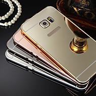 επιμετάλλωση καθρέφτη πίσω με μεταλλικό σκελετό τηλέφωνο υπόθεση για το Galaxy S4 S7 S5 S6 άκρη συν