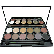 12 Lidschattenpalette Schimmer / Mineral Lidschatten-Palette Puder Normal Alltag Make-up / Smokey Makeup