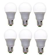 12W E26/E27 Lâmpada Redonda LED A60(A19) 12 SMD 2835 1200 lm Branco Quente Branco Frio Decorativa AC 220-240 V 6 pçs