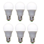 12W E26/E27 LED Λάμπες Σφαίρα A60(A19) 12 SMD 2835 1200 lm Θερμό Λευκό Ψυχρό Λευκό Διακοσμητικό AC 220-240 V 6 τμχ