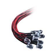 10mm LED fénykibocsátó dióda egy fénycsík DC12V haja vörös / fehér / kék / sárga / zöld (10db)