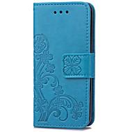karzea klaver patterntpu en pu lederen tas met standaard voor ipod touch5 / 6 nieuwe touch