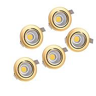 5pcs 5W στάχυ 220-240V χρυσό οδήγησε κάτω από το φως σε εσοχή οροφής