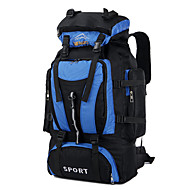 80 L 백패킹 배낭 여행 더플 배낭 캠핑 & 하이킹 등산 여행 스노우 스포츠 달리기 방수 비 방지 먼지 방지 방습 충격방지 착용할 수 있는 다기능 통기성 레드 블랙 블루 다크 블루 샴페인 나이론 CHENGXINTU