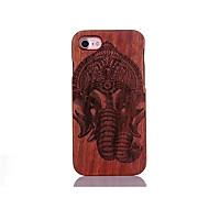 Για Ανθεκτική σε πτώσεις Ανάγλυφη Με σχέδια tok Πίσω Κάλυμμα tok Ελέφαντας Σκληρή Ξύλο για AppleiPhone 7 Plus iPhone 7 iPhone 6s Plus/6