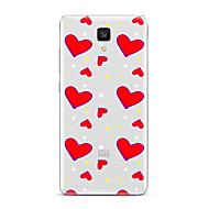 Για Διαφανής Με σχέδια tok Πίσω Κάλυμμα tok Καρδιά Μαλακή TPU για XiaomiXiaomi Mi 5 Xiaomi Mi 4 Xiaomi Mi 5s Xiaomi Mi 5s Plus Xiaomi Mi