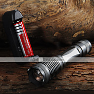 E6 LED-Zaklampen Handzaklampen LED 2000 Lumens 5 Modus Cree XM-L T6 Verstelbare focus voor Kamperen/wandelen/grotten verkennen Dagelijks