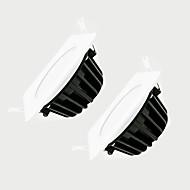 ZDM 2szt 7W ściemniania 600-650lm IP65 wodoodporny biały kwadrat lampa LED ściemniania AC220V