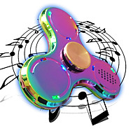 Fidget Spinners Przędzarka ręczna Zabawki Tri-Spinner LED Spinner Metal EDC Głośnik Bluetooth Stres i niepokój Relief Zabawki biurkowe Za