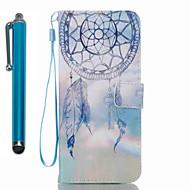 For samsung galaxy s8 pluss s8 kortholder lommebok med stativ flip mønster etui full body case med stylus dream catcher hard pu lær