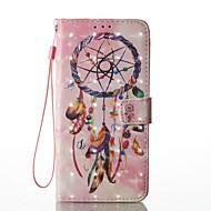 Til Etuier Covere Lommebok Kortholder med stativ Flipp Mønster Heldekkende Etui Drømmefanger Hard Kunstlær til SamsungS8 S8 Plus S7 edge