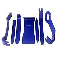 Ziqiao 7pcs / set herramienta abierta del coche herramienta de plástico auto herramientas de radio puerta de clip de panel de ajuste guión