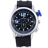 V6 Herrn Sportuhr Modeuhr Armbanduhr Chinesisch Quartz Stopuhr Großes Ziffernblatt Silikon Band Cool Bequem Schwarz