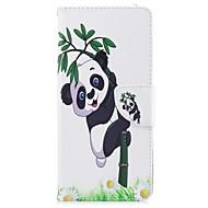 til case cover kortholder lommebok med stativ flip magnetisk mønster fuld krops cover panda hard pu læder til Samsung Galaxy Note 8