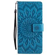 kotelon kannen kortin haltija lompakko, jossa seisomainen käännetty kohokuvioitu koko kehon kotelo kukka kova PU nahkaa varten Sony sony
