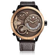Heren Dames Sporthorloge Militair horloge Polshorloge Japans Kwarts Kalender Chronograaf Waterbestendig Dubbele tijdzones s Nachts