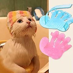 قط كلب الاستمالة فرش الحمامات تدليك لون عشوائي