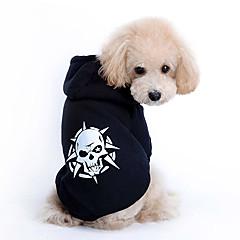 Psy Bluzy z kapturem Black Ubrania dla psów Wiosna/jesień Czaszki Modny
