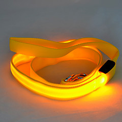 Köpekler Tasma Kayışı LED Işıklar / Güvenlik Tek Renk Kırmızı / Beyaz / Yeşil / Mavi / Pembe / Sarı / Turuncu Naylon