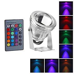 vízálló 10W RGB LED kültéri kerti lámpa ir távirányító 16colors fényvető (12-18v)