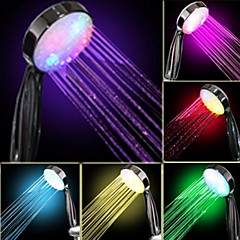 Water Flow Power Generation fokozatos Színváltó LED Kézizuhany