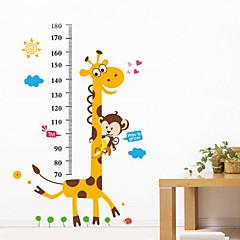 기린 벽지 동물 만화의 측정 높이 스티커 이동식 아이 아이 침실