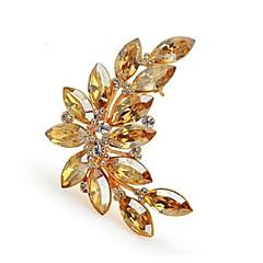 błyszczące kamienie kryształ broszka mody gałązką oliwną