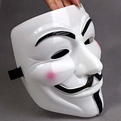 Πυκνώσει White Mask V For Vendetta Full Face Scary Gadgets Cosplay για Αποκριάτικη Στολή Κόμματος