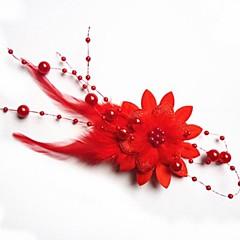 Moda Bride Pióro Stroik Flower serpentynę