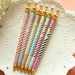 szép koronaábrázolást fekete tintával zselés toll (véletlenszerű szín)