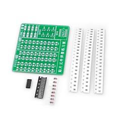 DIY SMD juotos käytännössä pcb aluksella pakki (Arduino)