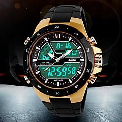 SKMEI Herre Sportsur Modeur Armbåndsur Digital Watch Quartz Digital Japansk QuartzLCD Kalender Kronograf Vandafvisende Dobbelte Tidszoner