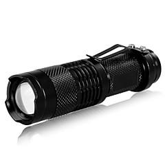 LED zseblámpák Kézi elemlámpák LED 240 Lumen 3 Mód Cree XR-E Q5 Az akkumulátorok nem tartozékok Állítható fókusz Újratölthető Taktikai