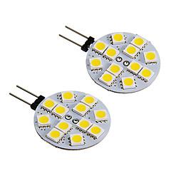 g4 2W 12x5050smd 150lm warm / koel wit licht led spot lamp (DC12 2 stuks)