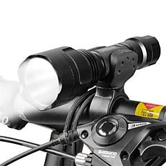 LED zseblámpák Kerékpár első lámpa LED Kerékpározás Állítható fókusz 18650 Lumen AkkumulátorKempingezés/Túrázás/Barlangászat