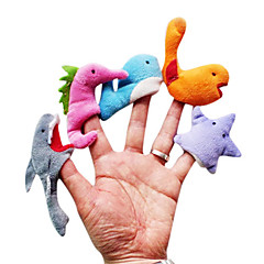 5pcs μαριονέτες βελούδινα δάχτυλο θάλασσα ζώο παιδιά μιλούν prop